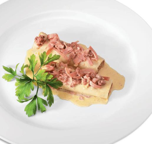Канелонес а ла Россини Итальянская кухня