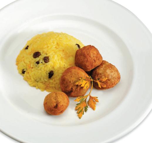 Татале и желтый рис с изюмом Африканская кухня