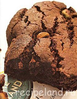 Рождественские шоколадные бискотти с фишташками Выпечка Печенье