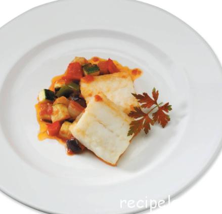 Треска под соусом самфайна Испанская кухня
