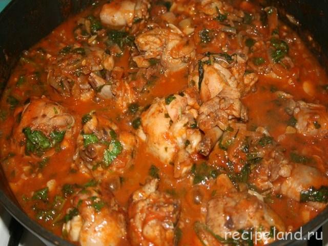Чахохбили из курицы Блюда из курицы Вторые блюда