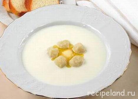 Суп молочный с галушками Украинская кухня