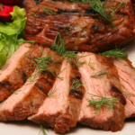 Бифштекс из пашины по-восточному Блюда из мяса
