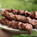 Шашлык из свинины Вторые блюда Шашлыки