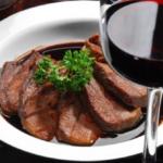 Жареная говядина с пикантным соусом Блюда из мяса