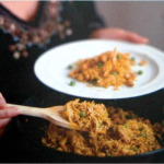 Курица карри с ореховым рисом Блюда из курицы