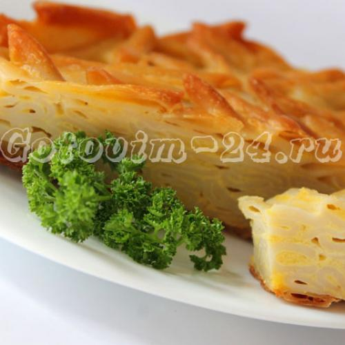 Бабка из макарон Украинская кухня