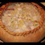 Балиш (пирог с бараниной и курицей) Казахская кухня