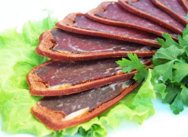 Бастурма из говядины по-грузински Вторые блюда Шашлыки