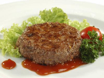 Бифштекс говяжий со сложным гарниром Вторые блюда Молдавская кухня