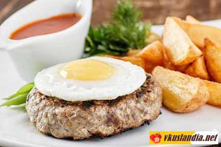 Бифштекс из мясного фарша Блюда из мяса Вторые блюда