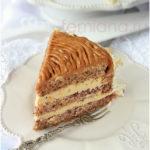 Бисквитный торт с ореховым кремом Выпечка