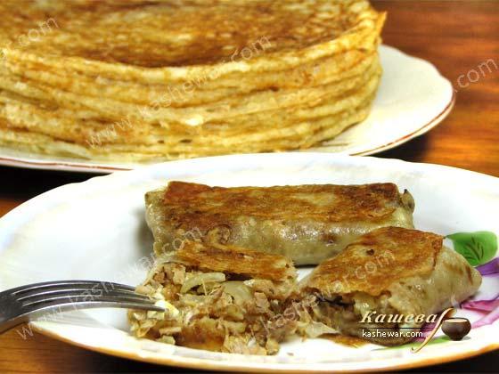 Блины с курятиной (Марокко) Африканская кухня