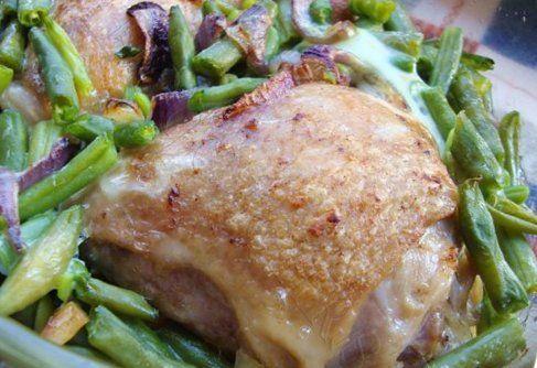 Борани из курицы со стручками фасоли и яйцом Армянская кухня