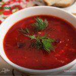 Борш ку фасоле (мясной борщ с фасолью) Молдавская кухня Супы