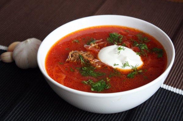 Борщ Белорусская кухня