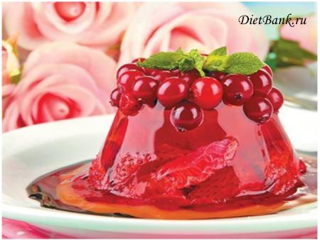 Брусничное желе Десерты Желе