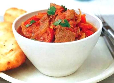 Чекдирме (жареная баранина с овощами) Туркменская кухня