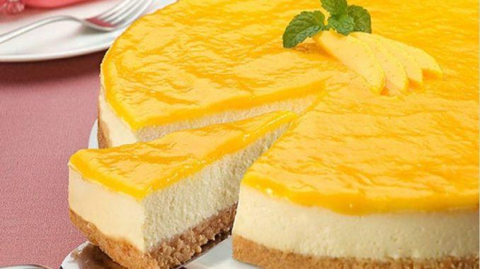 Чизкейк с апельсиновой глазурью