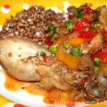 Цыпленок с паприкой Вторые блюда Праздничный стол