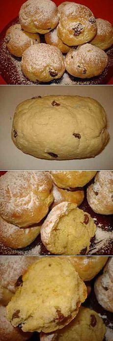 Деликатесные булочки с изюмом