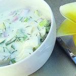 Дограмач (окрошка овощная) Азербайджанская кухня