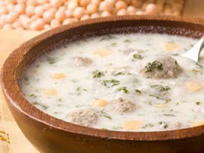 Довга с мясом (суп гороховый с фрикадельками)
