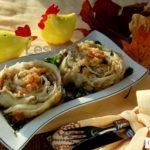 Фаршированная капуста с грибами Из капусты Из овощей