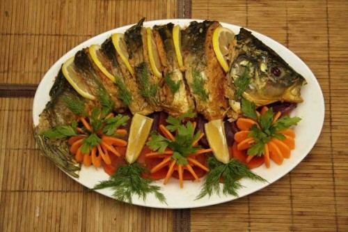 Фаршированная рыба Азербайджанская кухня