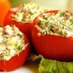 Фаршированные помидоры «По-крестьянски» Из овощей Помидоры