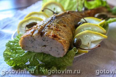Фаршированный судак Блюда из рыбы Вторые блюда