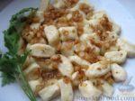 Галушки из хлеба со шкварками Галушки Украинская кухня