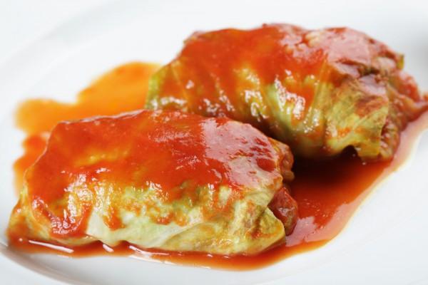 Голубцы в томатном соусе Блюда из мяса Вторые блюда