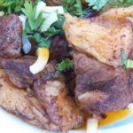 Говурма (жареная баранина с зеленью и луком) Туркменская кухня