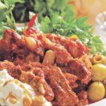 Говядина по-строгановски с горчицей Вторые блюда