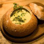Грибной суп в горшочках из хлеба Супы