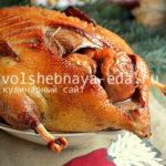 Гусь с яблоками в медовом соусе Блюда из курицы Вторые блюда