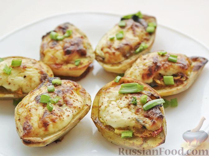 Картофель, фаршированный крольчатиной Блюда из мяса Вторые блюда Из картошки Из овощей