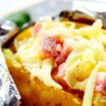Картофель, фаршированный сыром и ветчиной Из картошки