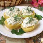 Картофель отварной с творогом Латышская кухня