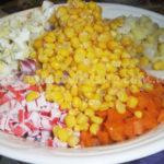 Картофель с крабовыми палочками Из картошки