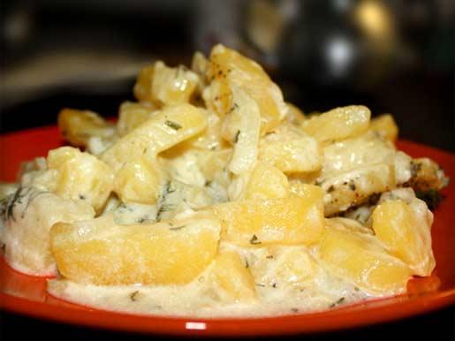 Картофель со сметаной Из картошки Из овощей