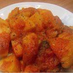 Картофель, тушенный в томатной пасте с грибами Из картошки