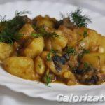 Картофель тушеный с грибами Из картошки