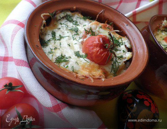 Картофель в горшочке пикантный