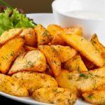 Картофель, запеченный ломтиками Из картошки