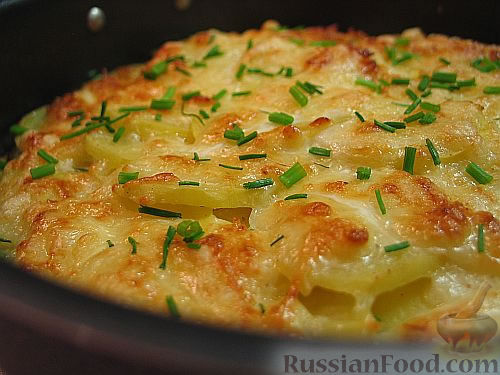 Картофель, запеченный с сыром