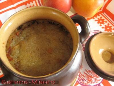 Картофельная бабка с копченой грудинкой Литовская кухня