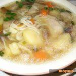 Картофельная похлебка с грибами и специями Из картошки