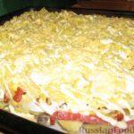 Картофельная запеканка с колбасой Из картошки